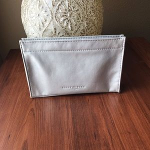 Issey Miyake Make Up Pouch Toilletry Bag Silver
